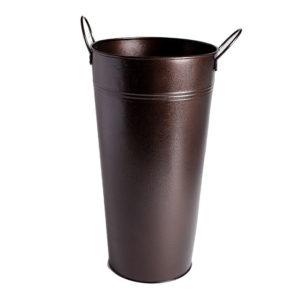 Brown Metal Buckets